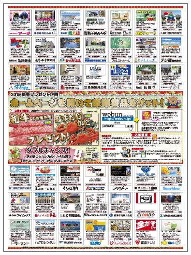 2019年 ホームページ企画 新聞広告